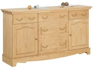 Home affaire Sideboard »Romantika« aus massiver Kiefer, Breite 164 cm, natur, natur geölt