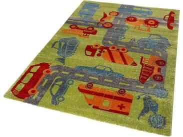 Sigikid Kinderteppich »Traffic«, rechteckig, Höhe 13 mm, grün, 13 mm, multi-grün