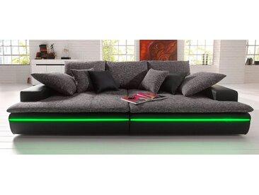 Nova Via Big-Sofa, schwarz, RGB-LED-Beleuchtung, schwarz