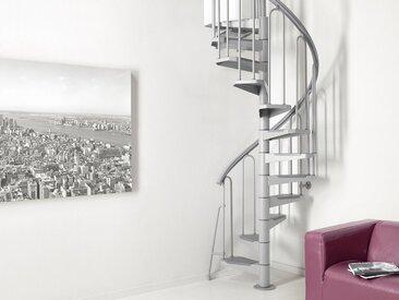 Starwood STARWOOD Spindeltreppe »Nice 3«, Ø: 100 cm, 10 Stufen, grau, gespindelt, grau