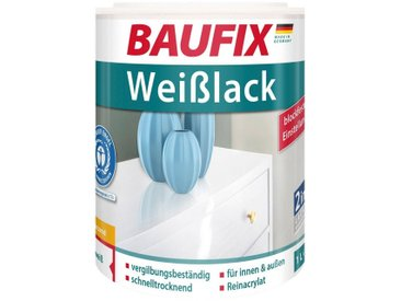 Baufix BAUFIX Acryl Weißlack Weißlack seidenglänzend, 1 l, weiß, 1 l, weiß