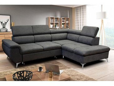WERSAL Ecksofa, mit Bettfunktion, grau, anthrazit