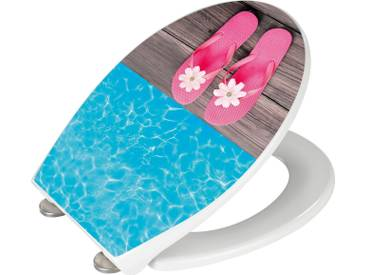 WENKO WC-Sitz Hochglanz Acryl »Hawaii«, bunt, mehrfarbig