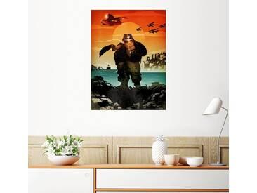 Posterlounge Wandbild - Albert Cagnef »Porco Rosso«, bunt, Holzbild, 120 x 160 cm, bunt