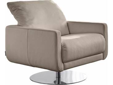 W.SCHILLIG Armlehnen-Sessel »mademoiselle« mit Kopfstützenverstellung und Drehteller, blau, stone