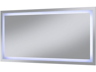 welltime WELLTIME Badspiegel »Trento«, LED-Spiegel, 120 x 60 cm, silberfarben, 120 cm, silberfarben