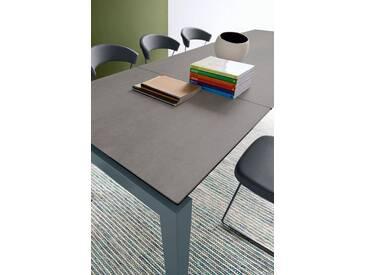 connubia by calligaris Tisch mit Tischplatte aus Keramik »Airport CB/4011«, natur, Metall grau matt, Keramik Stein