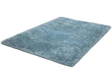 LALEE Hochflor-Teppich »Monaco«, rechteckig, Höhe 45 mm, Besonders weich durch Microfaser, blau, 45 mm, pastellblau