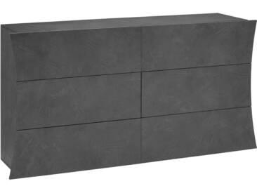 Tecnos Kommode »Arco«, Breite 154 cm, grau, zementfarben