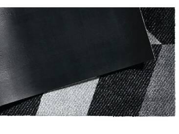 wash+dry by Kleen-Tex wash & dry Fußmatte, grau, ca. 70/120 cm, grau/schwarz
