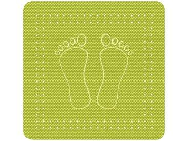 Kleine Wolke KLEINE WOLKE Duscheinlage »Foot«, BxH: 55 x 55 cm, grün, kiwifarben