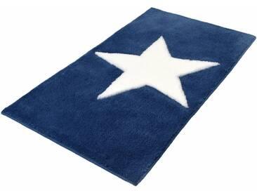 Kleine Wolke Badematte »Sigma« , Höhe 20 mm, rutschhemmend beschichtet, fußbodenheizungsgeeignet, blau, 20 mm, eisblau
