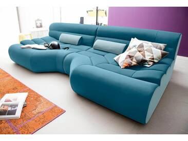 TRENDMANUFAKTUR Trendmanufaktur Mega-Sofa, grün, petrol/hellblau