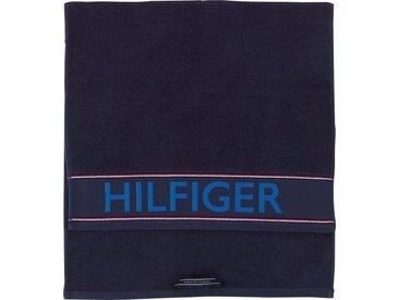 TOMMY HILFIGER Duschtuch »Hilfiger Iconic«, mit großem Schriftzug, blau, navy