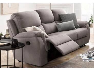 ATLANTIC home collection 3-Sitzer, mit Relaxfunktion und Federkern, grau, 205 cm, hellgrau