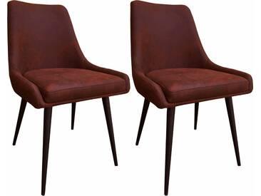 SIT Stuhl »2487« in Vintage-Optik (2er Set), braun, braun