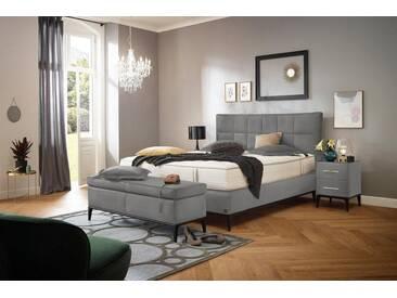 ADA premium Boxspringbett »Smart Elegance« Grand Comfort TF 1000 PM, grau, 7-Zonen-Tonnentaschen-Federkernmatratze H2/H3, hellgrau HMV 9