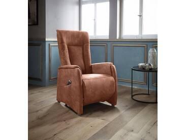Places of Style TV-Sessel mit Kopfteilverstellung »Murchison« in Größe S, auch mit Motor und Aufstehhilfe, braun, cognac