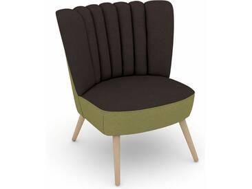 Max Winzer® build-a-chair Stuhlsessel »Aspen« im Retrolook, zum Selbstgestalten, braun, Korpus: Flachgewebe 16452 apfel, Flachgewebe 16452 schoko