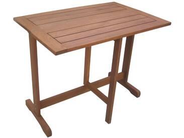 MERXX Gartentisch »Holz«, Eukalyptusholz, klappbar, 90x60 cm, braun, braun, 60 cm x 90 cm, braun