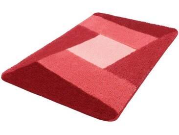 Kleine Wolke Badematte »Indiana« , Höhe 20 mm, rutschhemmend beschichtet, fußbodenheizungsgeeignet, rot, 20 mm, bordeaux