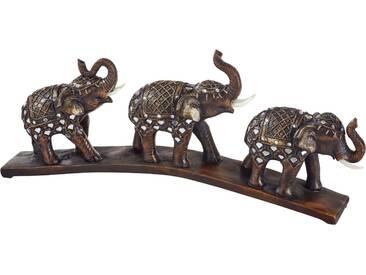 Home affaire Dekofigur »Orientalische Elefanten auf Steg«, braun, braun