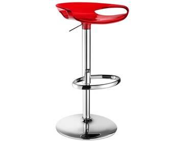 SalesFever Barhocker höhenverstellbar »Zoe«, rot transparent