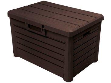 ONDIS24 Auflagenbox »Florida Kompakt«, 73 x 50 x 46, 120 Liter, Kunststoff, braun, braun