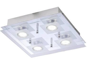 Leuchten Direkt LED Deckenleuchte, 4-flammig, silberfarben, 4 -flg. /, silberfarben
