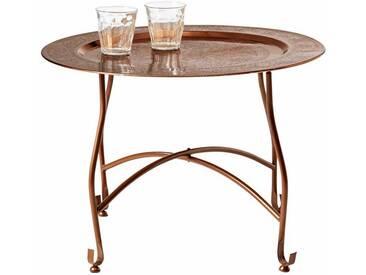 heine home Tablett-Tisch abnehmbar vom Ständer, braun, H/Ø ca. 42/59 cm, groß, H/Ø ca. 42/59 cm, groß, kupferfarben