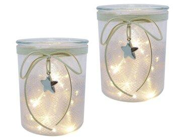 Creativ light LED Windlicht SET, 2tlg, weiß, weiß