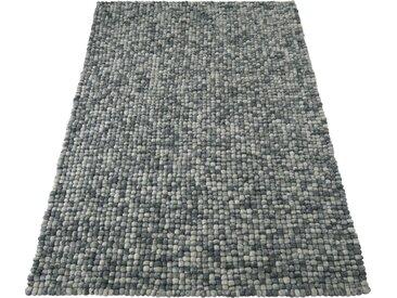 Home affaire Wollteppich »Maja«, rechteckig, Höhe 22 mm, Filzkugelteppich, grau, stein-meliert