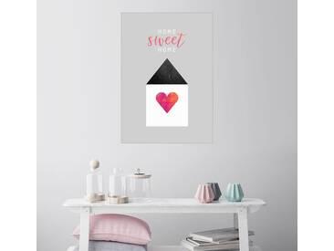 Posterlounge Wandbild - Elisabeth Fredriksson »Home Sweet Home«, bunt, Poster, 70 x 100 cm, bunt