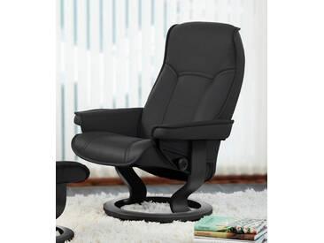 Stressless® Relaxsessel »Senator« mit Classic Base, Größe S, mit Schlaffunktion, schwarz, Fuß wengefarben, black