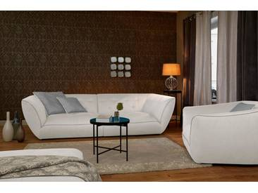 Guido Maria Kretschmer Home&Living Big-Sofa »Nida«, inklusive Zierkissen, natur, 224 cm, creme/greige