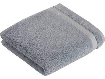 Vossen Handtücher »Scala«, mit Bordüre, grau, Wirkfrottee, blue jewel