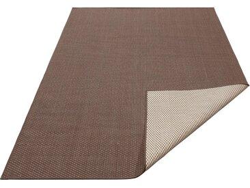 my home Teppich »Rhodos«, rechteckig, Höhe 3 mm, In- und Outdoor geeignet, Sisaloptik, braun, 3 mm, braun