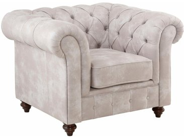 Premium collection by Home affaire Sessel »Chesterfield«, grau, silver