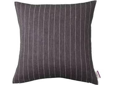 Tom Tailor Kissenhüllen »Easy Linen«, schwarz, Leinen-Polyester, schwarz