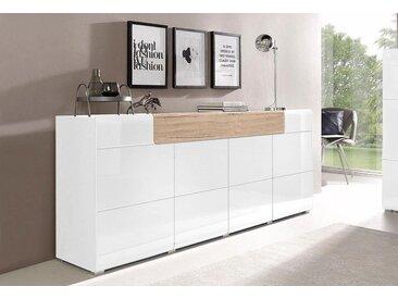 TRENDMANUFAKTUR XXL-Sideboard »Toledo«, Breite 208 cm, weiß, weiß/eichefarben San Remo