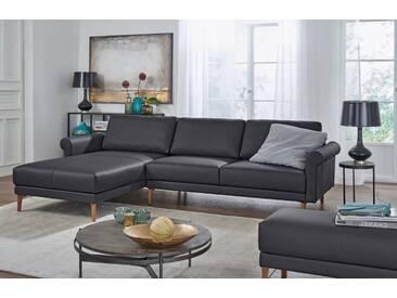 Hülsta Sofa hülsta sofa Polsterecke »hs.450« im modernen Landhausstil, Breite 262 cm, schwarz, Recamiere links, signalschwarz