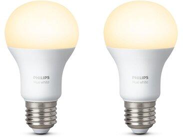 Philips Hue LED-Leuchtmittel, E27, 2 Stück, Neutralweiß, Tageslichtweiß, Warmweiß, Extra-Warmweiß, Farbwechsler, smartes LED-Lichtsystem mit App-Steuerung