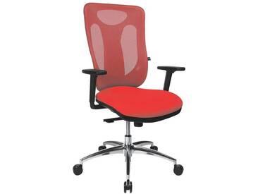 TOPSTAR Bürostuhl mit Armlehnen »Sitness Net Pro 100«, rot, rot