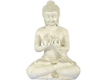 Home affaire Buddha, Casa Collection, im Lotussitz, weiß, antikweiß