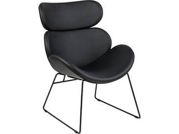 andas Sessel »Chiara« in edlem skandinavischem Design mit Gestell aus Metall, schwarz, schwarz