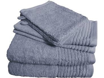 Dyckhoff Handtuch Set, »Brillant«, mit Streifenbordüre, grau, 6tlg.-Set B (siehe Artikeltext), grau