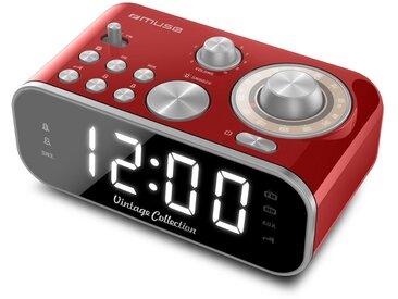 Muse Uhrenradio PLL UKW Dualalarm »M18CRD«, rot, rot