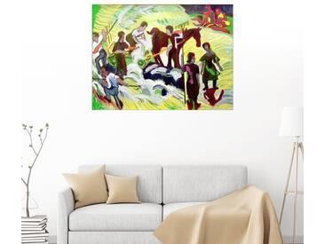 Posterlounge Wandbild - Ernst Ludwig Kirchner »Heuernte«, bunt, Holzbild, 80 x 60 cm, bunt
