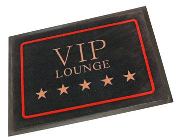 HANSE Home Fußmatte »VIP Lounge«, rechteckig, Höhe 8 mm, schwarz, 8 mm, schwarz