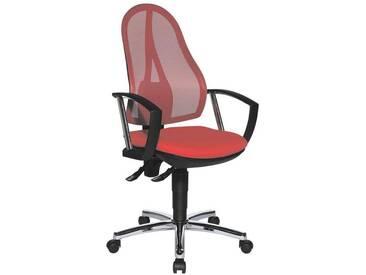 TOPSTAR Bürostuhl mit Armlehnen »Open Point P Plus«, rot, rot